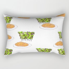 afternoon tea in bushes with cookies Rectangular Pillow