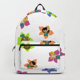 Aloha Honeys Hawaiian Hula Girl Cartoon Backpack