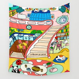 La Maison du Lapino Wall Tapestry