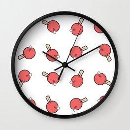 Table Tennis Paddles Wall Clock