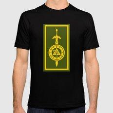 Zelda Shield Triforce Mens Fitted Tee Black MEDIUM