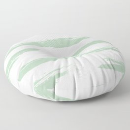 Swipe Stripe Pastel Cactus Green and White Floor Pillow
