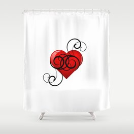 Flourished Heart Shower Curtain