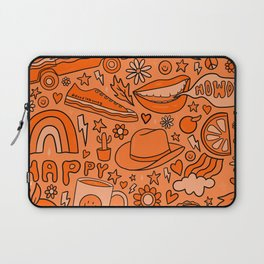 Orange Print Laptop Sleeve