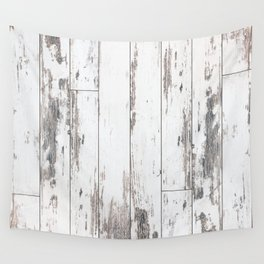 White Wood Wall Tapestry