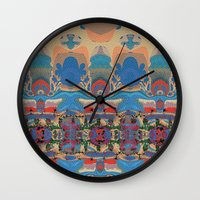 oasis Wall Clocks featuring Oasis by Jim Pavelle