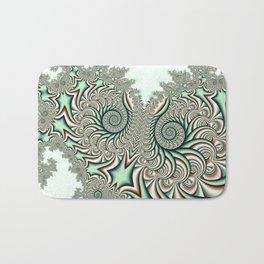 Owl Fractal Chocolate Mint Bath Mat