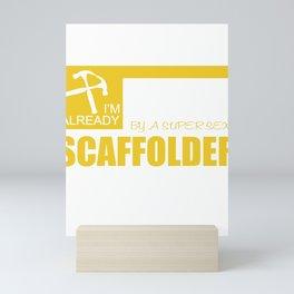 scaffolder scaffolding craftsman construction house Mini Art Print
