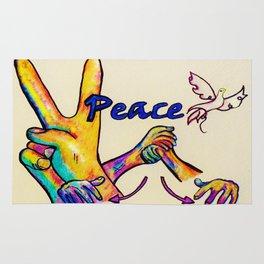 ASL Peace Rug