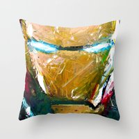 ironman Throw Pillows featuring IRONMAN by DITO SUGITO