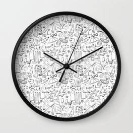 Summer Days - White Wall Clock