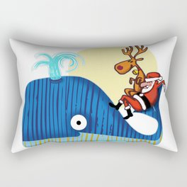 SANTA CLAUS LOVES WHALES Rectangular Pillow