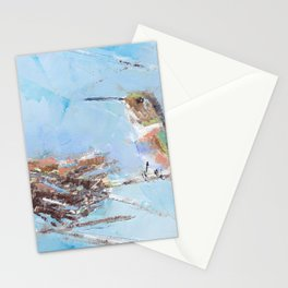 Hummingbird and Nest Stationery Cards