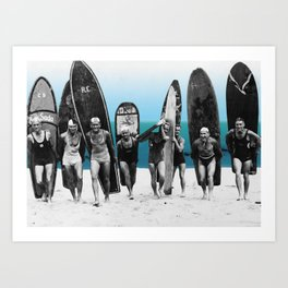 Surf's Up, Boys! Art Print