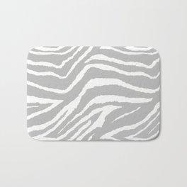 ZEBRA 2 GRAY AND WHITE ANIMAL PRINT Bath Mat