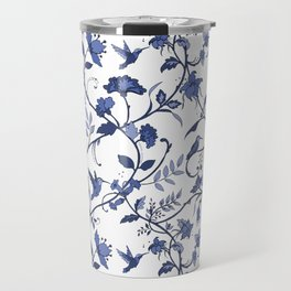 Hummingbird Blue Chintz Travel Mug