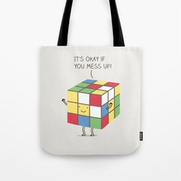 it's okay if you mess up! Tote Bag