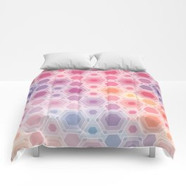 Hexagonal multicolor Comforters