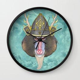 Samurai Mandrill Wall Clock