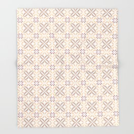 Damask pattern design Throw Blanket