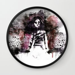Soldados muertos (color version) Wall Clock