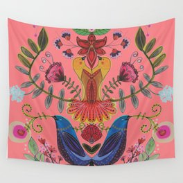 harmonie in salmon Wall Tapestry