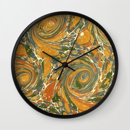 Old Marbled Paper 03 Wall Clock