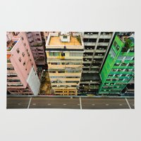 hong kong Area & Throw Rugs featuring Hong Kong by Gal Raz