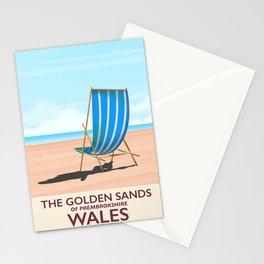 Pembrokeshire Wales vintage trvel poster Stationery Cards
