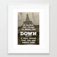 eiffel tower Framed Art Prints featuring Eiffel tower by Solar Designs