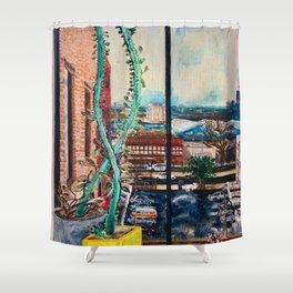 Quarantine Painting, Brooklyn NY Shower Curtain