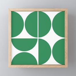 Mid Century Modern Green Square Framed Mini Art Print