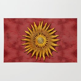 """""""Aztec Sun and pickled coral"""" Rug"""