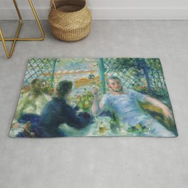 Lunch at the Restaurant Fournaise (The Rowers Lunch) (1875) by Pierre-Auguste Renoir Rug