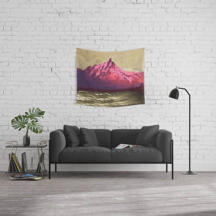 Sea.Mountains.Light . i. Wall Tapestry