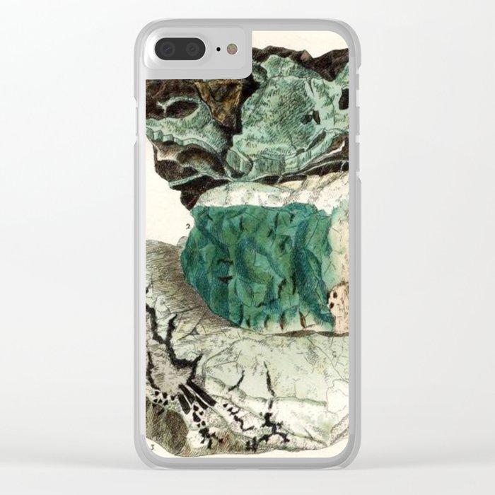 Vintage Mineralogy Illustration Clear iPhone Case