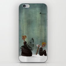 frau schwarz iPhone & iPod Skin