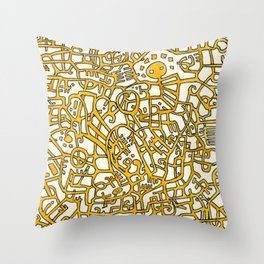 Begin/End Series in Yellow Throw Pillow