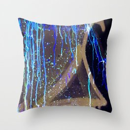 Graffiti & Glow Paint Throw Pillow