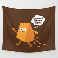 meme Wall Tapestries featuring Don't Shred on Me by David Olenick