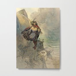 """""""King of the Fairies"""" by A Duncan Carse Metal Print"""