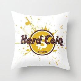Hard Coin Bitcoin Throw Pillow