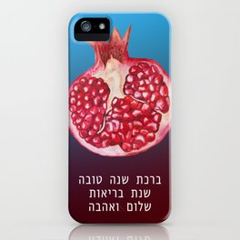 Rosh Hashana Wishes for Shanah Tovah - a Good New Year iPhone Case