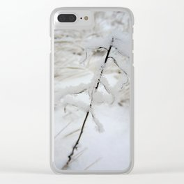 Winter Frost Clear iPhone Case