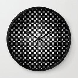 Illuminant polka dot pattern Wall Clock