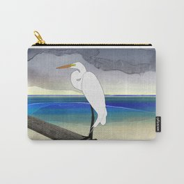 American Great Egret Carry-All Pouch