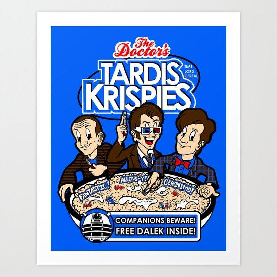 Tardis Krispies Art Print