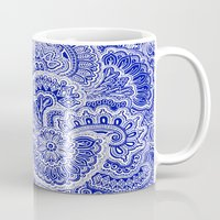 navy Mugs featuring Navy by Samantha Jeffrey