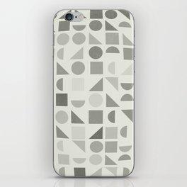 Greyscale Shapes iPhone Skin