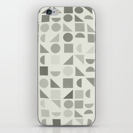 Greyscale Shapes iPhone Skin